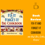 Fix-it and forget-it cookbook cover with title of the post in orange