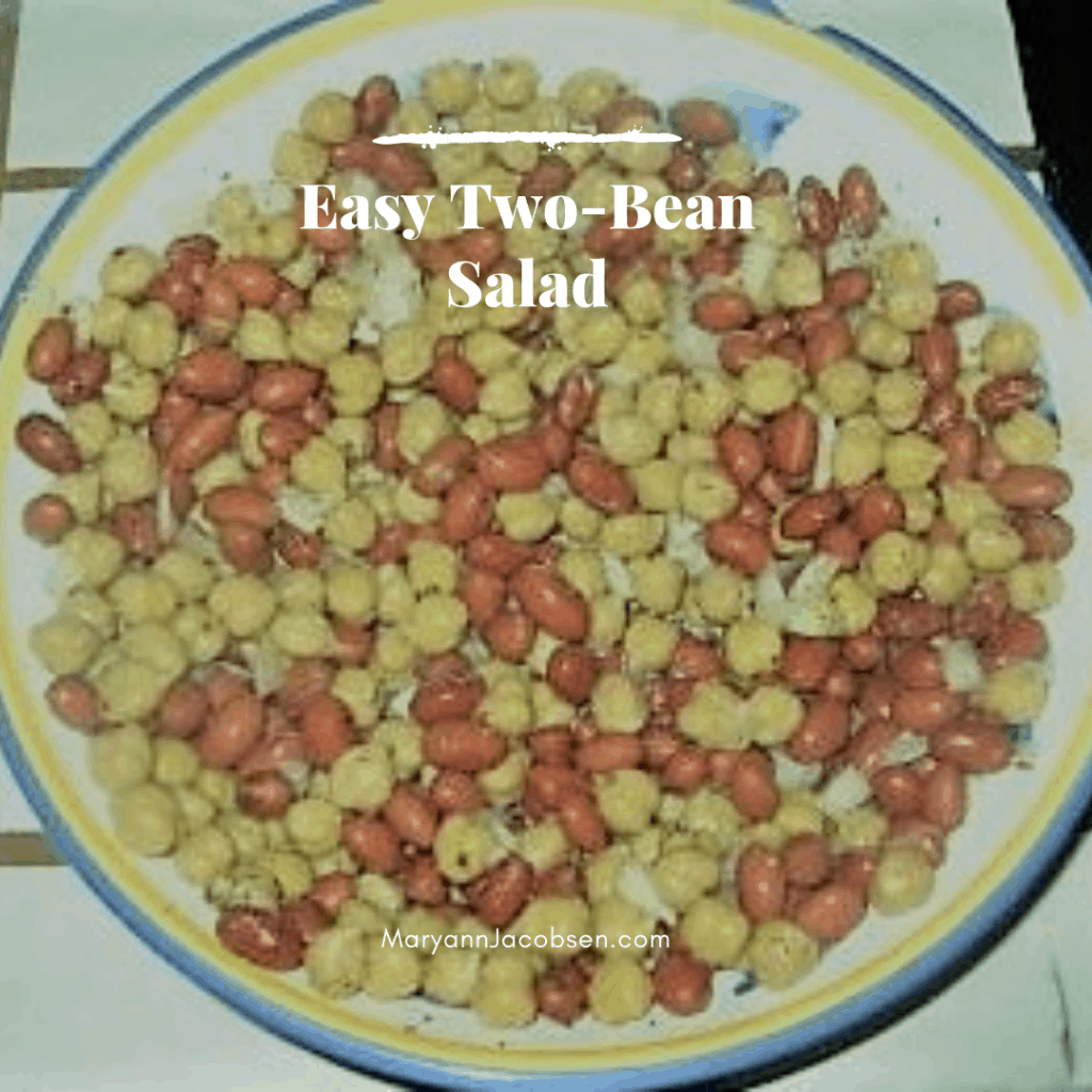 two bean salad in a bowl