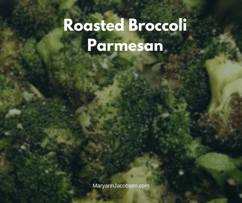 roasted broccoli with parmesan with post title
