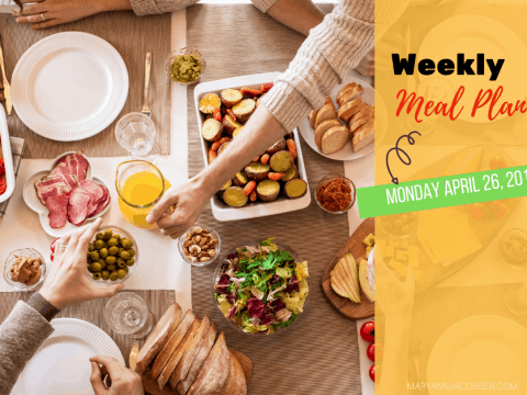 Weekly Meal Plan: Monday April 26th