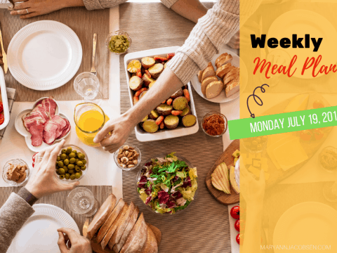 Weekly Meal Plan: Monday July 19th