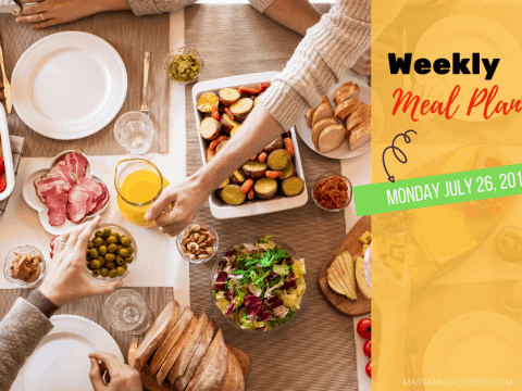 Weekly Meal Plan: Monday July 26th