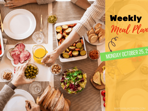 Weekly Meal Plan: Monday October 25th
