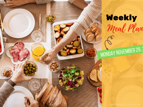 Weekly Meal Plan: Monday November 29th