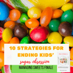 colorful sweet candy with post title for finale in managing sweets series