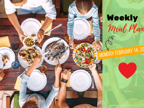 Weekly Meal Plan: Monday February 14th