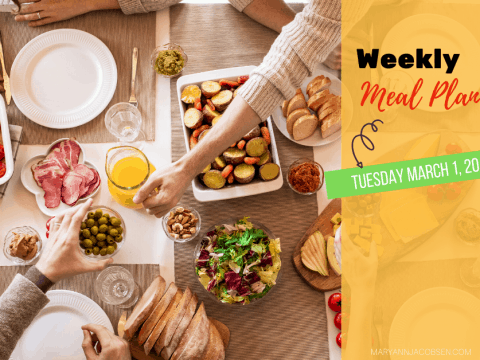Weekly Meal Plan: Tuesday March 1st