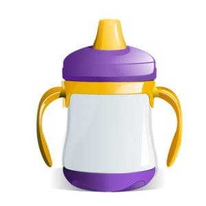 sippy cup with a sprout top