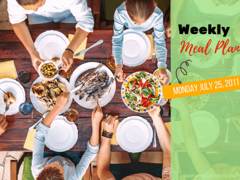 Weeky Meal Plan: Monday July 25th
