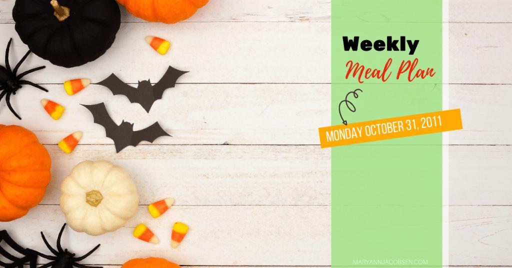 weekly meal plan Halloween