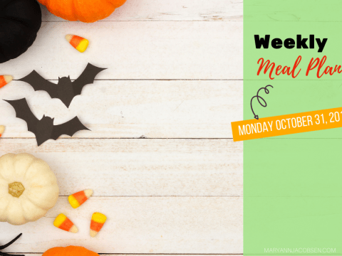 Weekly Meal Plan: Monday October 31st