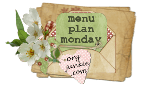 Weekly Meal Plan: Monday October 14th