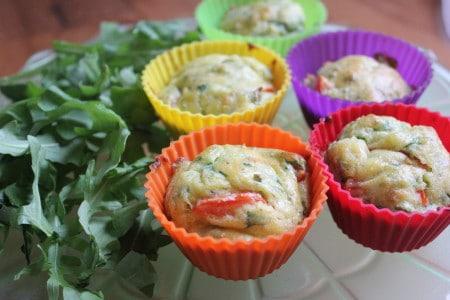 Arugula and Goat Cheese Muffins