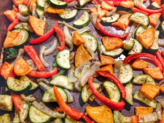 Post image for Roasted Vegetables: Sweet Potato & Zucchini [Recipe]