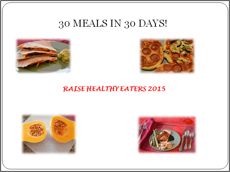 30 Meals in 30 Days Challenge
