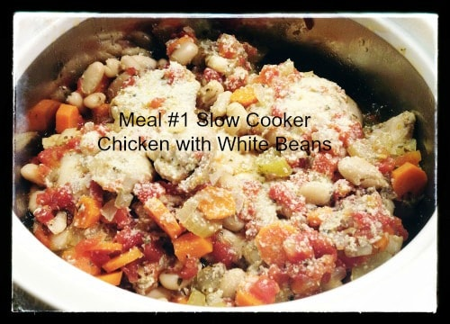 30 Meal Challenge (Meal #1): Slow Cooker Chicken with White Beans