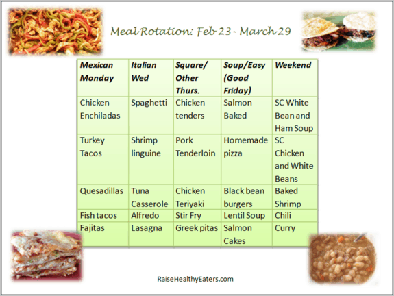 Dinner Rotation: Feb-March