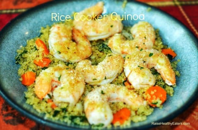 Rice Cooker Quinoa with Veggies