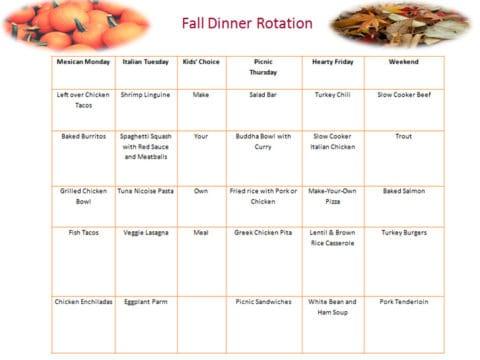 Fall Dinner Rotation 2016