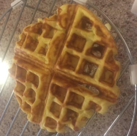 Potato waffle attempt