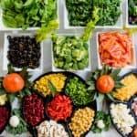 fruit and vegetables displayed on a platter