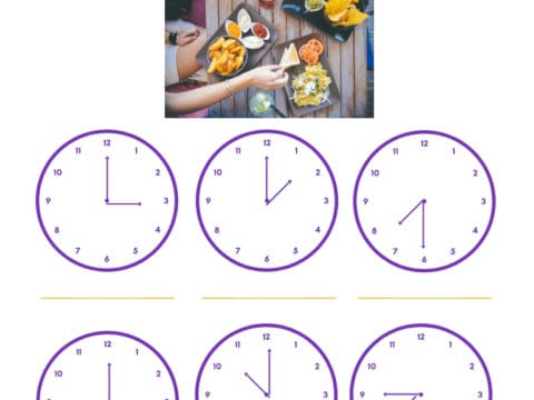 post graphic with title of post and clocks showing