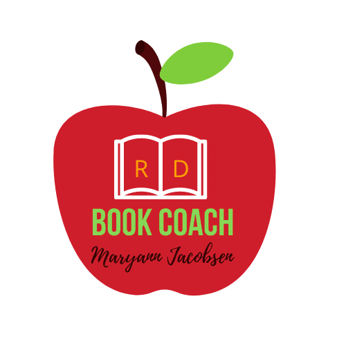 picture of apple with RD book coach written on it