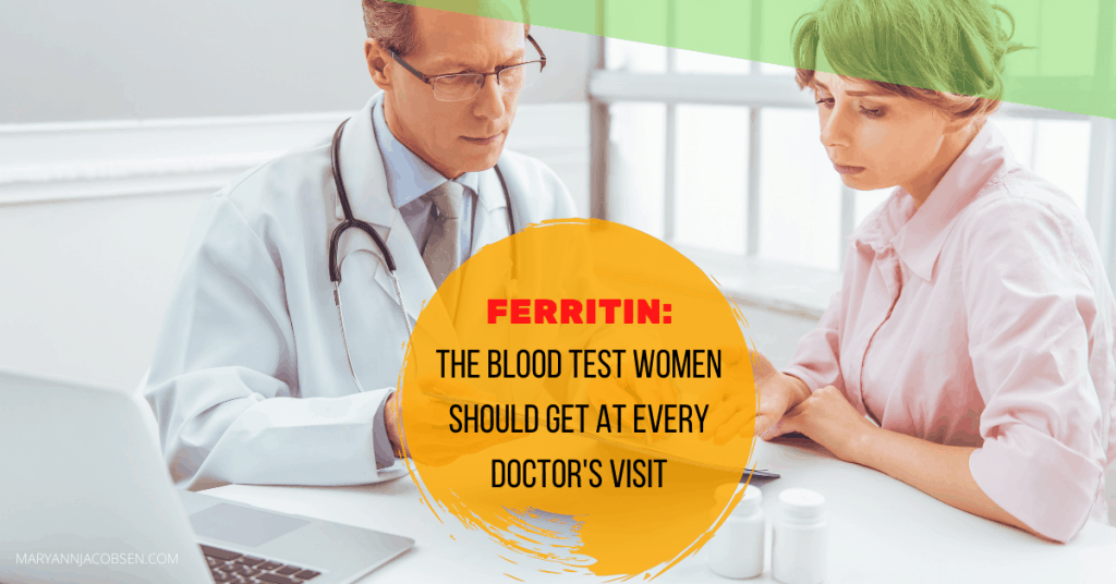 Doctor and women looking at test results